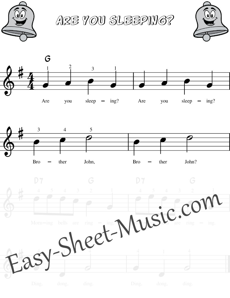 Are You Sleeping Brother John - Easy Keyboard Sheet Music For Beginners